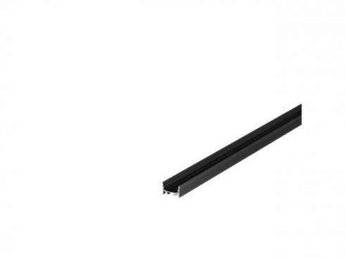 GRAZIA 20 profil na stěnu LED plochý drážkovaný 2m černý - BIG WHITE