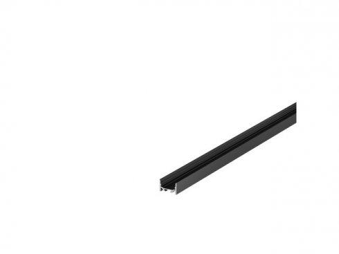 GRAZIA 20 profil na stěnu LED plochý hladký 2m černý - BIG WHITE