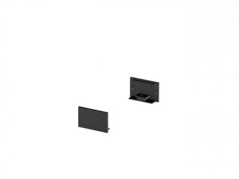 Koncové kryty na GRAZIA 20 profil k montáži na stěnu plochý 2 kusy ploché provedení černé - BIG WHITE