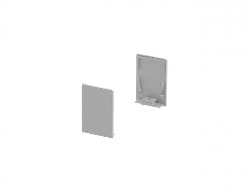 Koncové kryty na GRAZIA 20 profil k montáži na stěnu standard 2 kusy vysoké provedení hliník - BIG WHITE