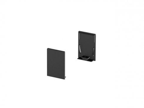 Koncové kryty na GRAZIA 20 profil k montáži na stěnu standard 2 kusy vysoké provedení černé - BIG WHITE