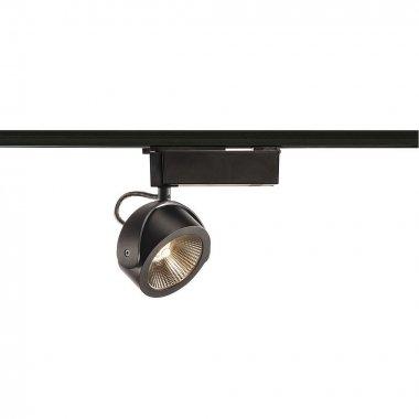 KALU  zářivka na 1fázovou vysokonapěťovou napájecí kolejnici, LED, 3000K, černá, 24°, vč. 1fázového adaptéru