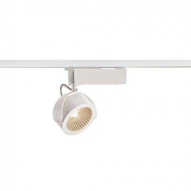 KALU  zářivka na 1fázovou vysokonapěťovou napájecí kolejnici, LED, 3000K, bílá/černá, 60°, vč. 1fázového adaptéru