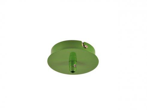 Stropní rozeta, 1 výstup, kulatá, zelená kapradina, včetně odlehčovacího profilu  LA 132608