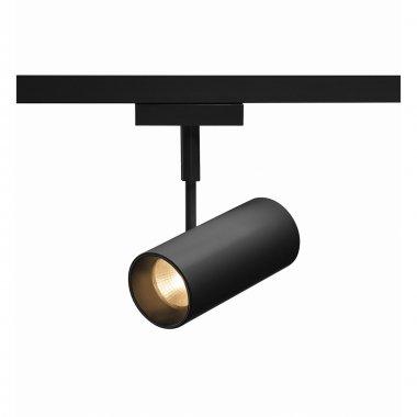 REVILO  zářivka na 2fázovou vysokonapěťovou napájecí kolejnici, LED, 2700K, černá, 36°, vč. 2fázového adaptéru