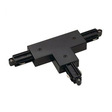 T spoj pro jednookr. lištu pravá černá 230V LA 143080