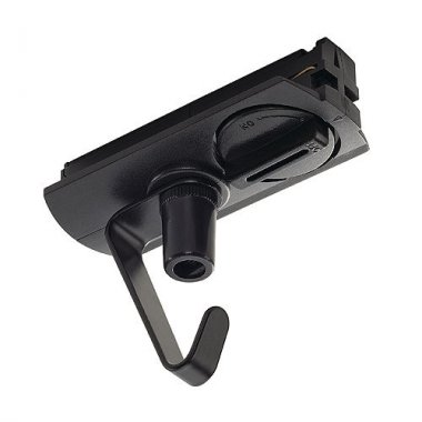 Adapter s háčkem pro jednookr. lištu černá 230V SLV LA 143170