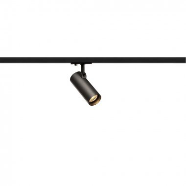HELIA 50  zářivka na 1fázovou vysokonapěťovou napájecí kolejnici, LED, 3000K, černá, 35°, vč. 1fázového adaptéru