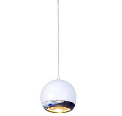 LIGHT EYE závěsná pro 1-okr. lištu bílá chrom 230V GU10 75W LA 143621