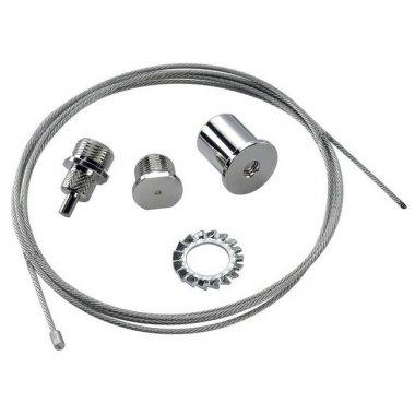 Systémové svítidlo EUTRAC lankový závěs délka 6,20m stříbrná LA 145820