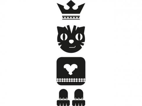 Nálepka Totem kočka, černá, vč. stěrky LA 155981