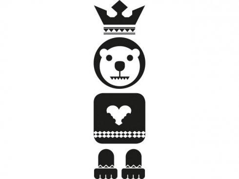 Nálepka Totem medvěd, černá, vč. stěrky LA 155982