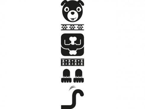 Nálepka Totem pes, černá, vč. stěrky LA 155983