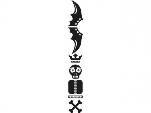Nálepka Totem lebka, černá, vč. stěrky LA 155985