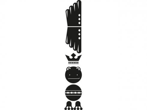 Nálepka Totem žába, černá, vč. stěrky LA 155986