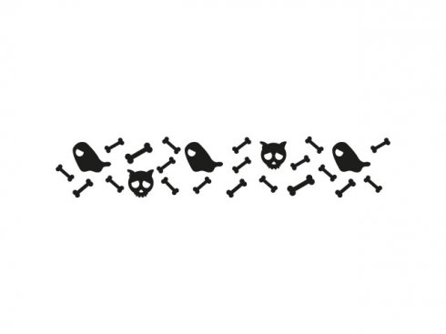 Nálepka Kosti, černá, vč. stěrky LA 155987