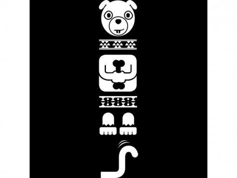 Nálepka Totem pes, bílá, vč. stěrky LA 155993