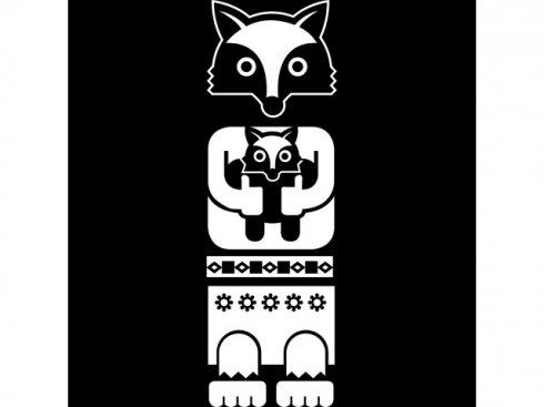 Nálepka Totem liška, bílá, vč. stěrky LA 155994