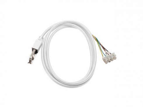 Napáječ pro 230V 2fázovou kolejnici D-TRACK bílý s kabelem 2m - BIG WHITE