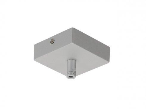 Stropní rozeta GLENOS, stříbrná, 8,5x8,5x2,7 cm, s odlehčovacím profilem LA 210064