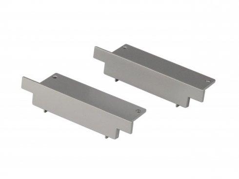GLENOS koncovky pro zápustný profil 2ks stříbrnošedá - BIG WHITE SLV - Profesional
