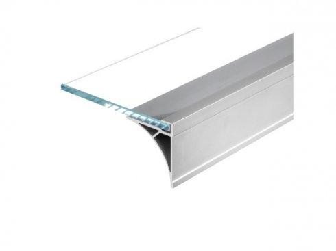 GLENOS regálový profil 100, eloxovaný hliník, 1 m LA 213544