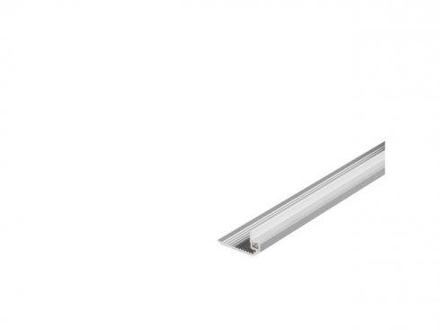 GLENOS stupňový profil schodů DOWN 200, eloxovaný hliník, 2 m SLV LA 213592