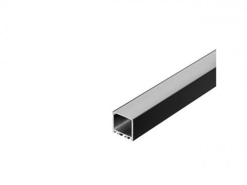 GLENOS Profi profil 3030-200, matný černý, 2 m SLV LA 213620