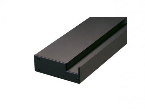 GLENOS Profi profil nástěnného nosiče , vč. koncových krytů, matný černý, 1 m LA 213670