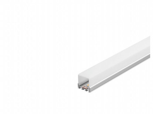 GLENOS akrylový kryt SQUARE pro Profi profil 2609, 1 m LA 213761