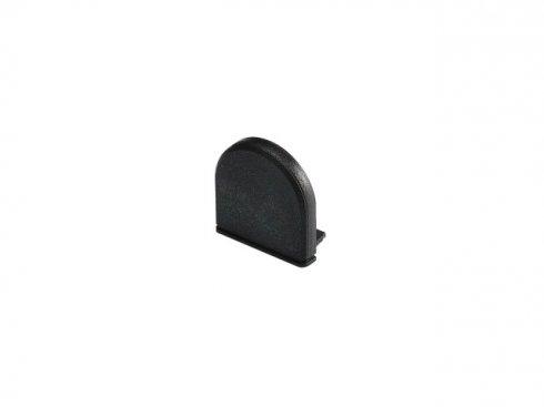 GLENOS koncová krytka pro Profi profil 2609 CURVED, matná černá, 2 ks LA 213780