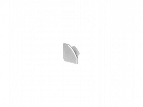 GLENOS koncová krytka pro lineární rohový profil 2720, stříbrná, 2 ks LA 213934