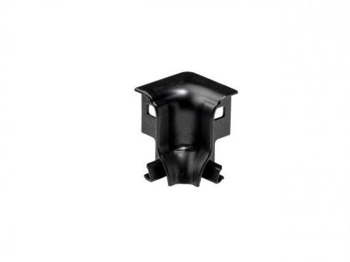 GLENOS rohová spojka DO INTERIÉRU pro profil nožní lišty , 90°, matná černá  LA 214040