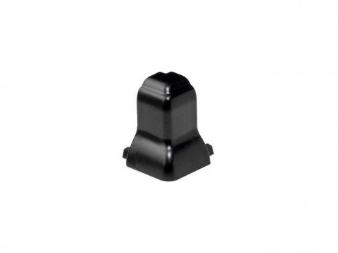 GLENOS rohová spojka DO EXTERIÉRU pro profil nožní lišty, 90°, matná černá  SLV LA 214050