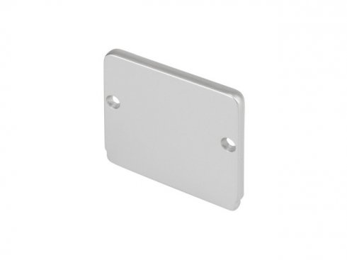 GLENOS koncová krytka pro Industrial Profil Flat, stříbrná, 2 ks LA 214454
