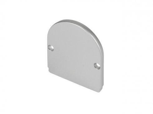 GLENOS koncová krytka pro Industrial Profil Dome, stříbrná, 2 ks LA 214464