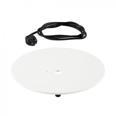 Montáž.deska pro svítidlo LIGHT PIPE bílá s černým kabelem - BIG WHITE