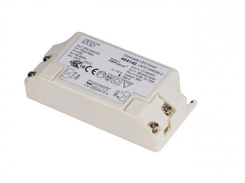LED DRIVER, 10W, 350mA, incl. strain relief, dimmable5,95-10,15W, počet LED 4-6, stmívatelné s TRIAC stmívačem, 350 mA  SLV LA 464140