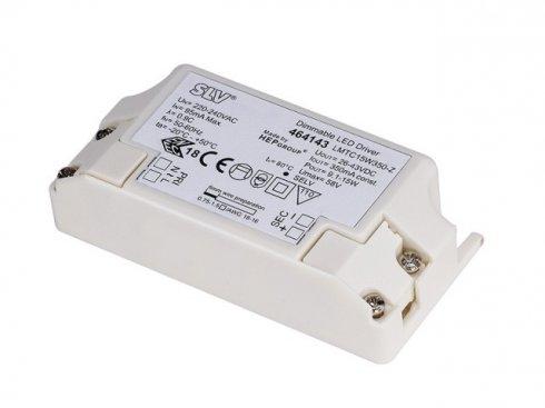 LED DRIVER, 15W, 500mA, incl. strain relief, dimmable9,1-15W, 500 mA, stmívatelné s TRIAC stmívačem SLV LA 464144