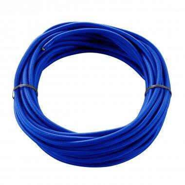 Textilní kabel 3pólový 10m modrý - BIG WHITE