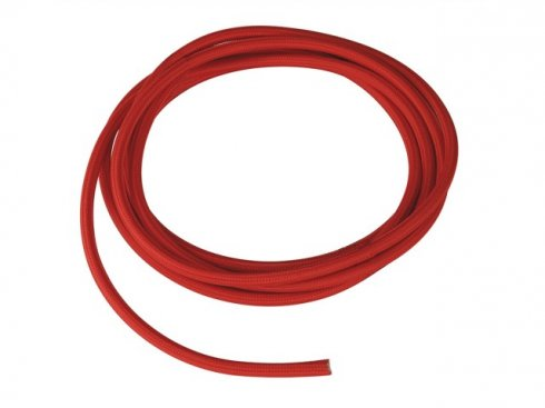 Textile cable, 3-pole, 10m, red H03VV-F, 3x0,75mm? LA 961276