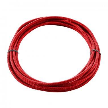 Textilní kabel 3pólový 5m červený - BIG WHITE SLV