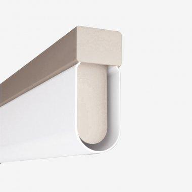 Stropní a nástěnné svítidlo LUCIS AULA 24W LED 3000K akrylátové sklo šedá AU1.L11.900.47