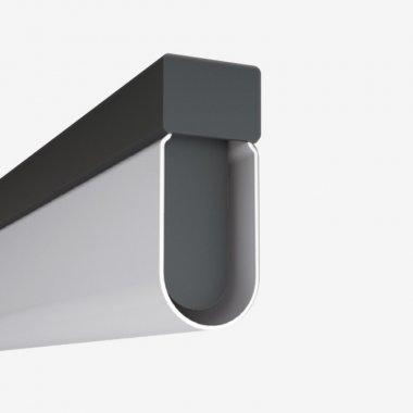 Stropní a nástěnné svítidlo LUCIS AULA 19,5W LED 3000K akrylátové sklo šedá AU1.L3.1500.47-1
