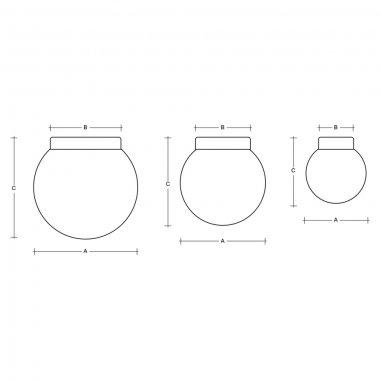 Stropní a nástěnné svítidlo LUCIS POLARIS S 7,9W LED 3000K sklo měď opál BS19.L1.280.72-2