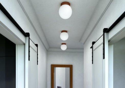 Stropní a nástěnné svítidlo LUCIS POLARIS S 7,9W LED 3000K sklo měď opál BS19.L1.280.72-3