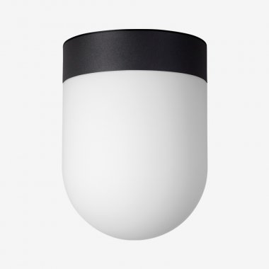 Stropní svítidlo LUCIS RETRO 7,9W LED 3000K sklo černá opál BS19.L1.R19.45-1