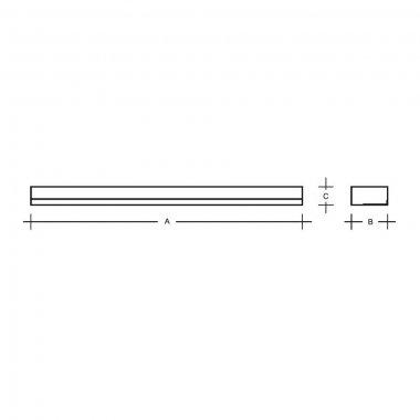 Nástěnné svítidlo LUCIS IZAR I 24W LED 3000K akrylátové sklo černá I1.L1.900.93-1