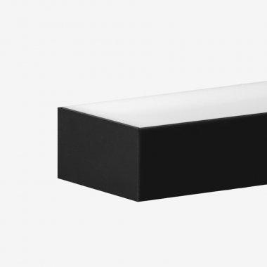 Nástěnné svítidlo LUCIS IZAR II 7,8W LED 3000K akrylátové sklo černá I2.L3.600.93