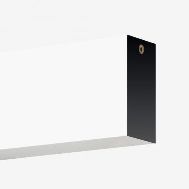 Stropní a nástěnné svítidlo LUCIS IZAR III 40W LED 3000K akrylátové sklo černá I3.L11.1500.93